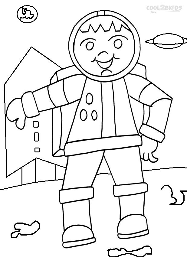 astronauts coloring pages for kids - photo#25