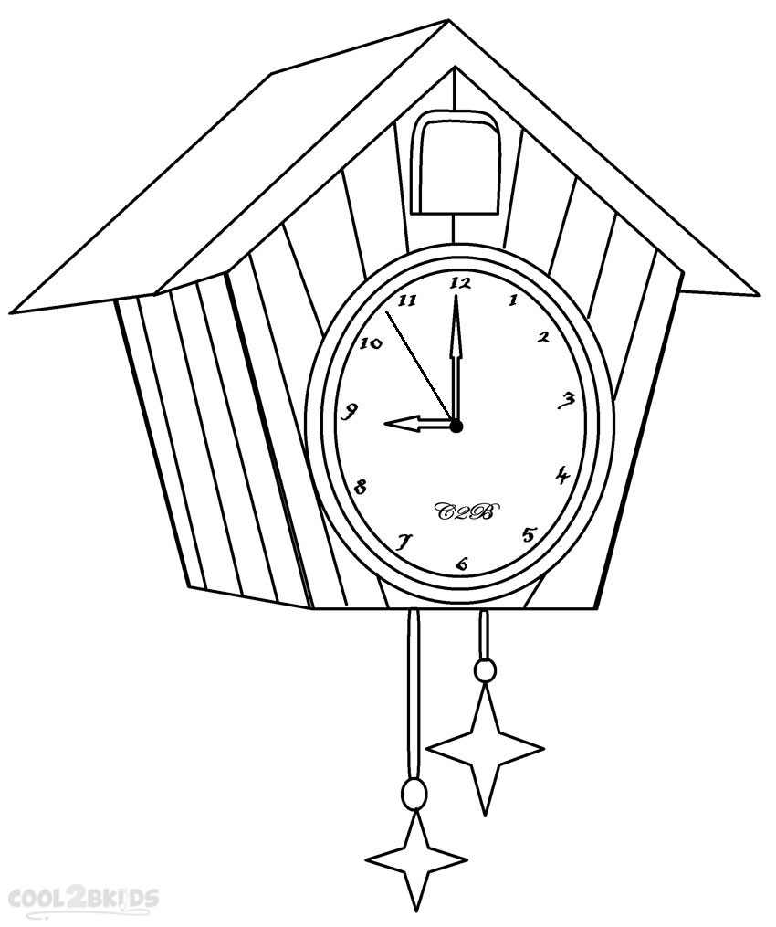 Printable Clock Coloring Pages