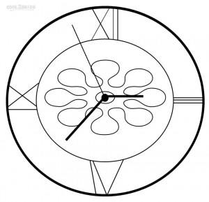coloring pages clock | Printable Clock Coloring Pages For Kids | Cool2bKids