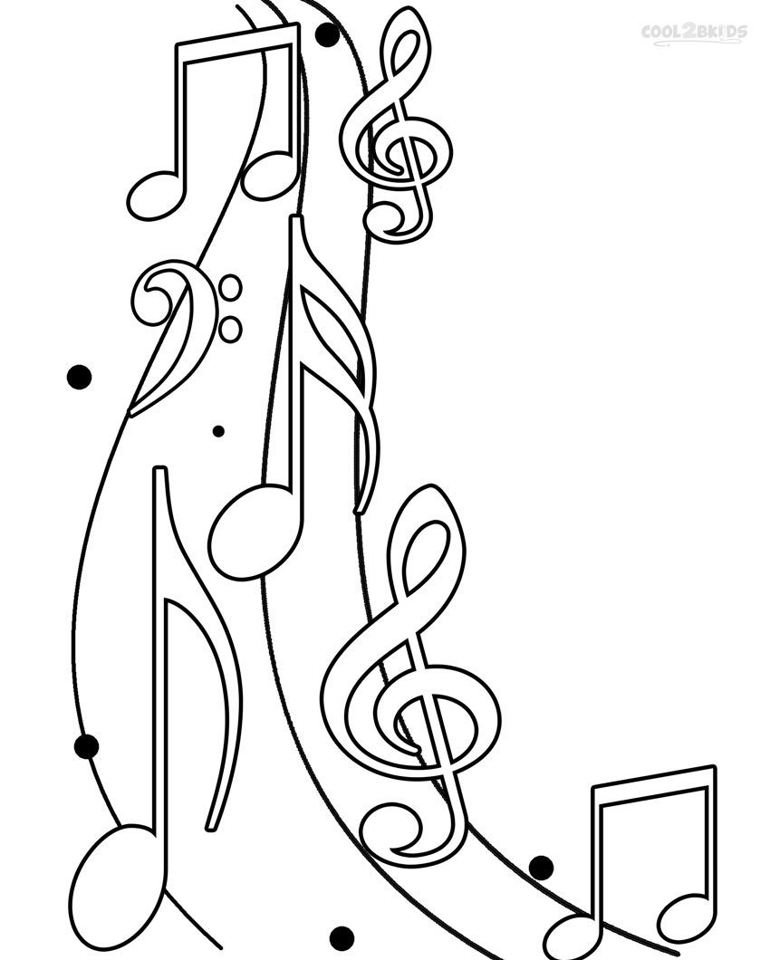 coloring pages of music note