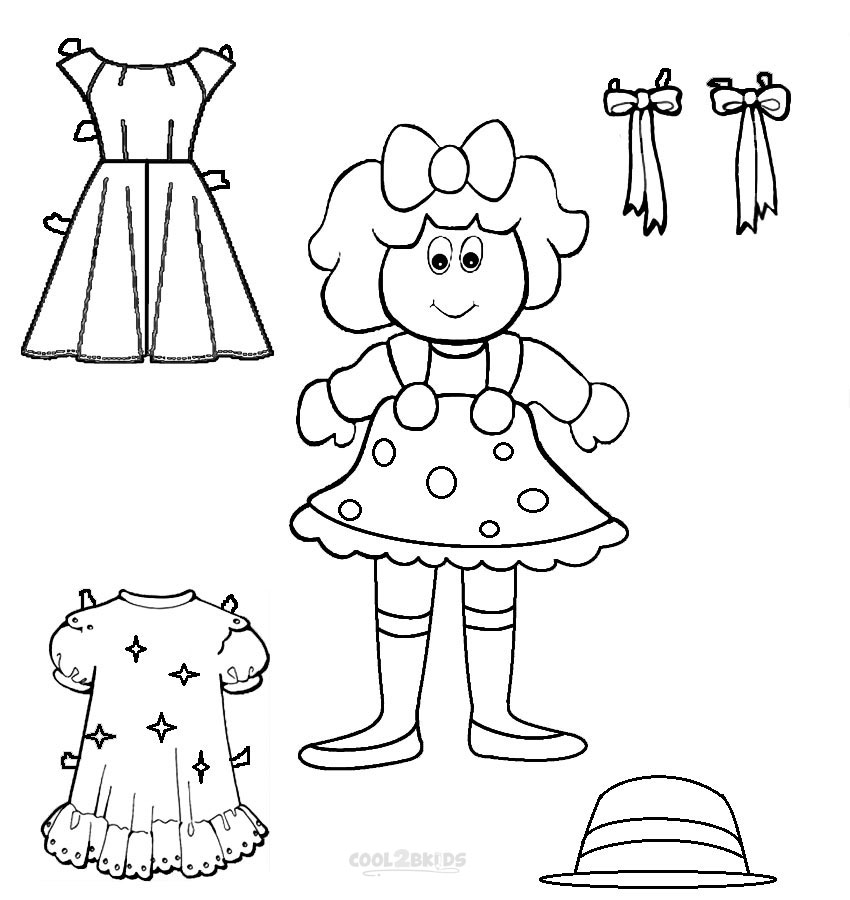 coloring pages of paper doll