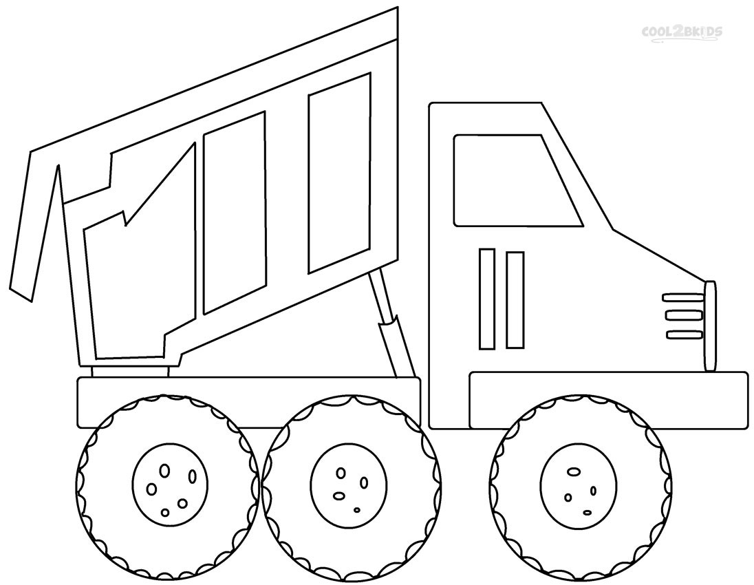 Tonka Truck Coloring Pages #6