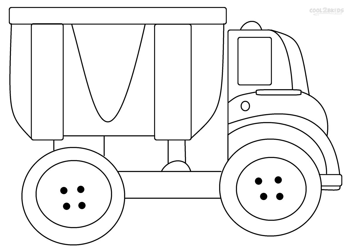Nifty image intended for printable truck coloring page