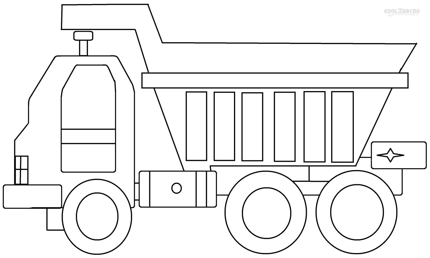 dump truck coloring pages online - photo#31
