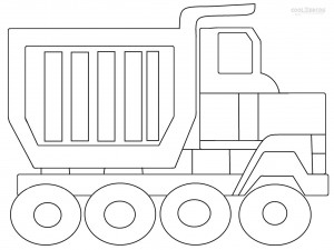Dump Truck Coloring Pages To Print