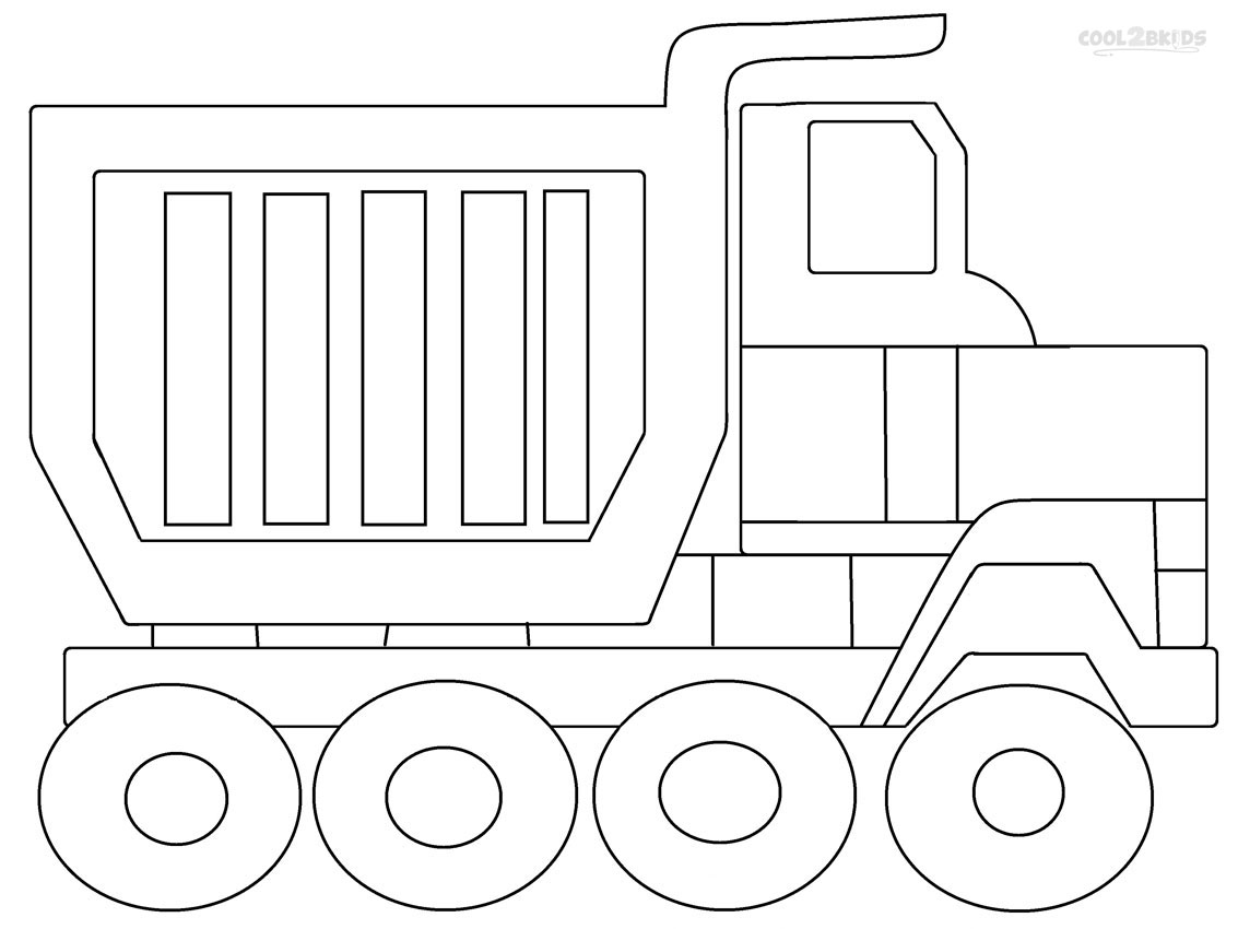 Garbage truck coloring book - Dump Truck Coloring Pages To Print