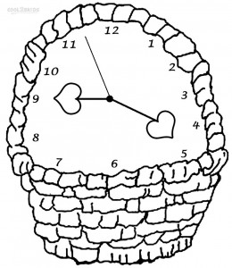 Free Clock Coloring Pages