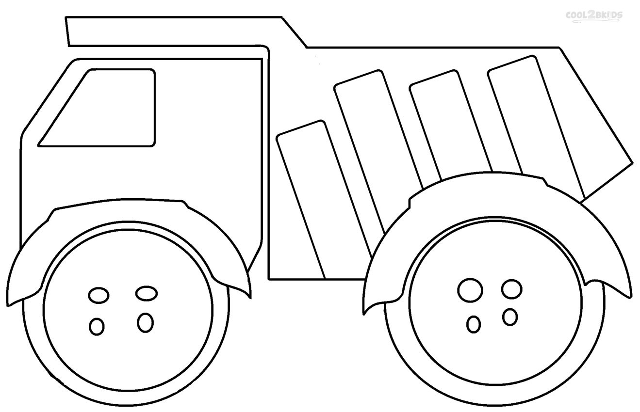 Printable dump truck coloring pages for kids cool2bkids for Free truck coloring pages