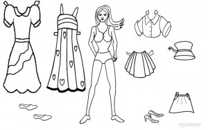 Free Paper Doll Coloring Pages