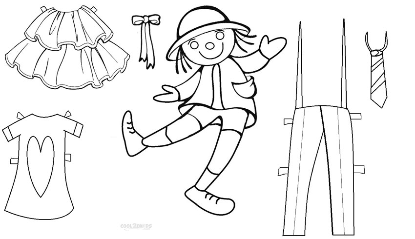 Best Paper Doll Clothes Coloring Pages Contemporary New