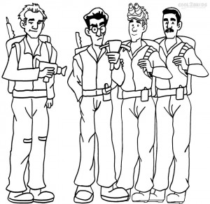 Ghostbusters Coloring Page