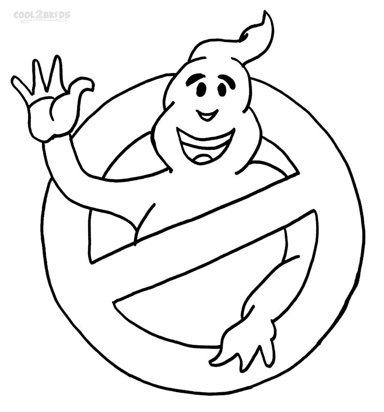 ghostbusters coloring pages printable - Colour In Sheet