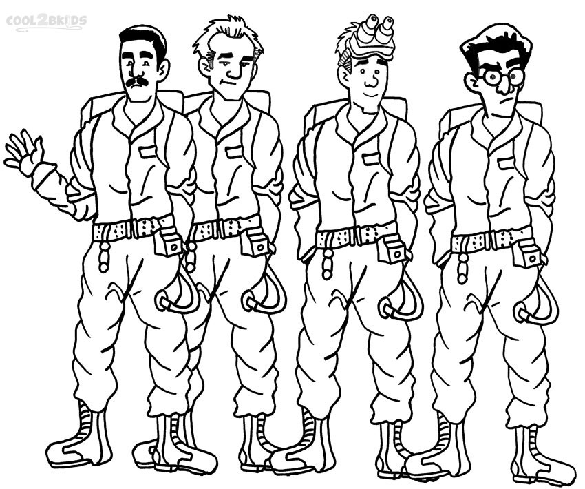 Printable Ghostbusters Coloring Pages For Kids | Cool2bKids