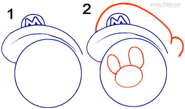 how to draw mario step by step pictures cool2bkids