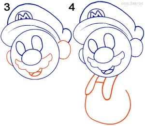 How To Draw Mario Step 2