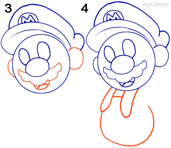 How To Draw Mario Characters Step By Step For Kids How To Draw Mario (Ste...