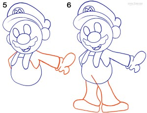 How To Draw Mario Step 3