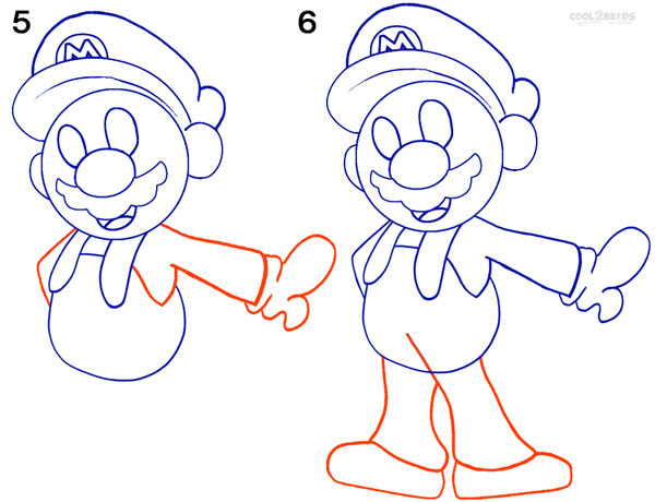How To Draw Mario (Step by Step Pictures)