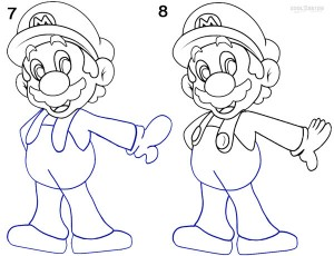 How To Draw Mario Step 4
