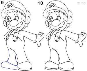 How To Draw Mario Step 5