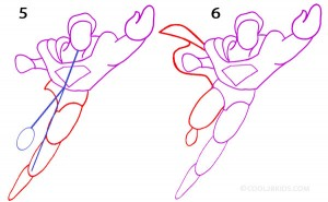 How to Draw Superman Step 3