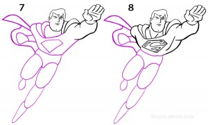 How to Draw Superman Step 4