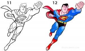 How to Draw Superman Step 6