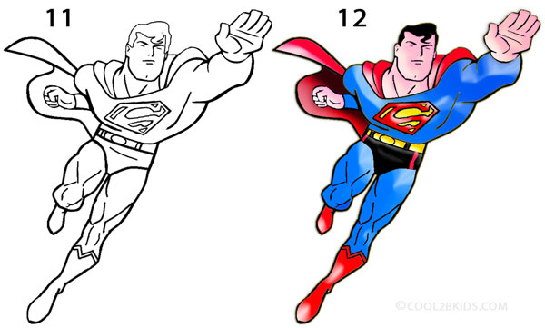 Superman Chest Drawing How to Draw Superman Step 6