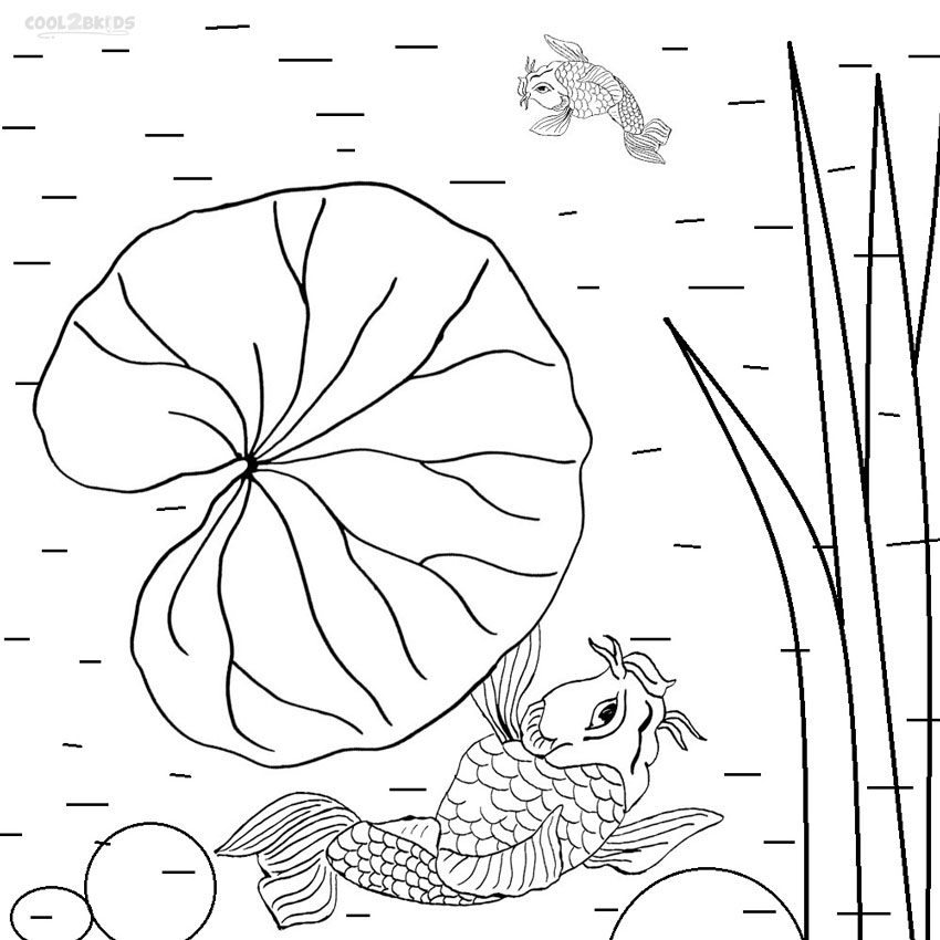Lily pad coloring pages free
