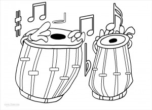 Music Note Coloring Pages Print