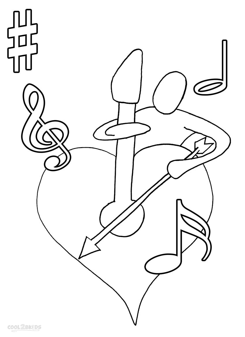 This is a picture of Hilaire Musical Coloring Page