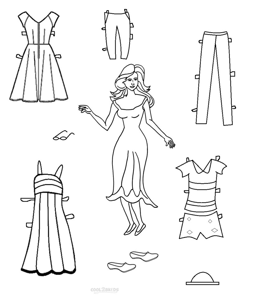 coloring pages dolls - photo#50