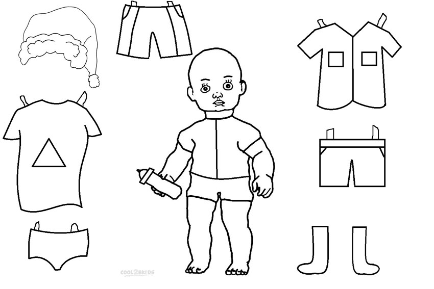 Paper Doll Coloring Pages To Print