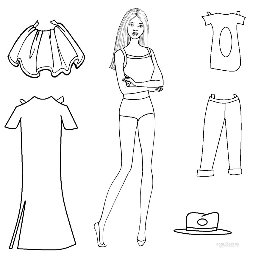 doll coloring pages to print - photo#31