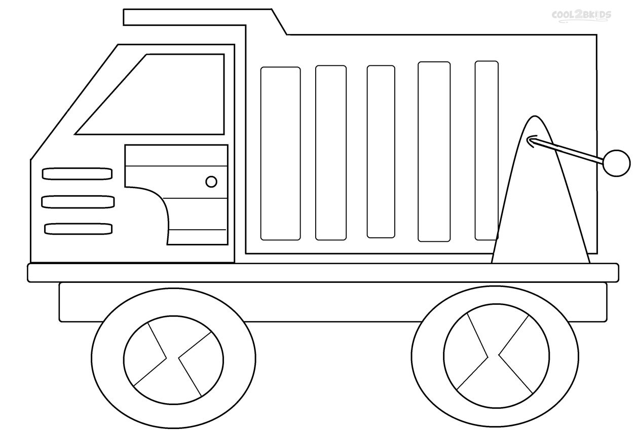 Garbage truck coloring book - Printable Dump Truck Coloring Pages
