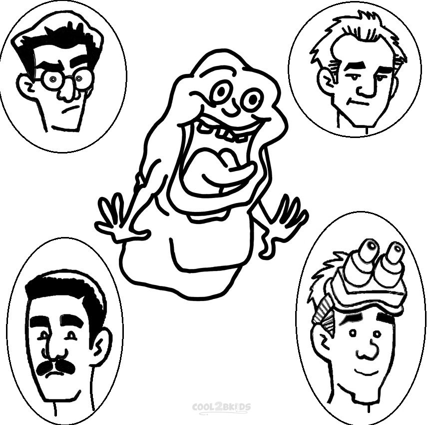 real ghostbusters coloring pages - photo#14