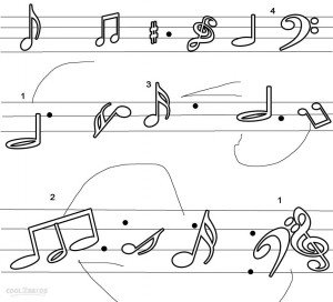 Printable Music Note Coloring Pages