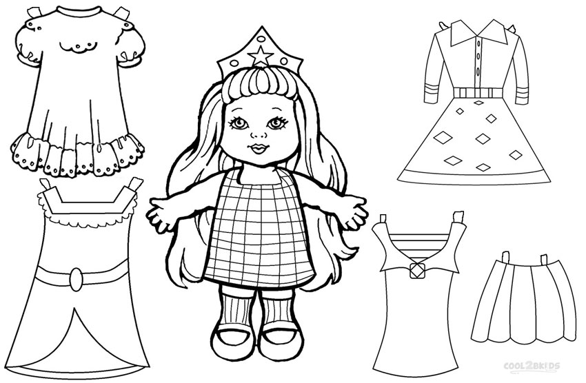 doll coloring pages to print - photo#36