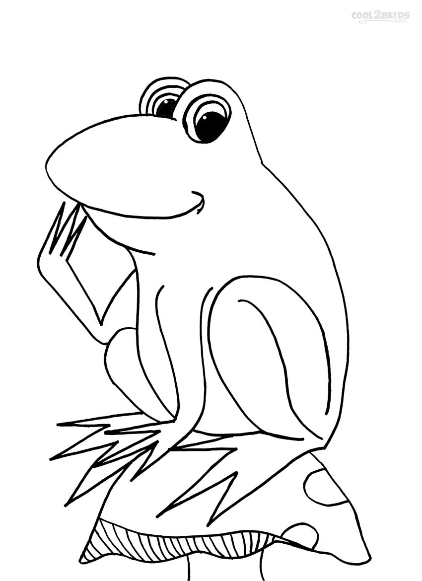 Printable Toad Coloring Pages For
