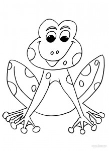 Toad Coloring Pages For Kids