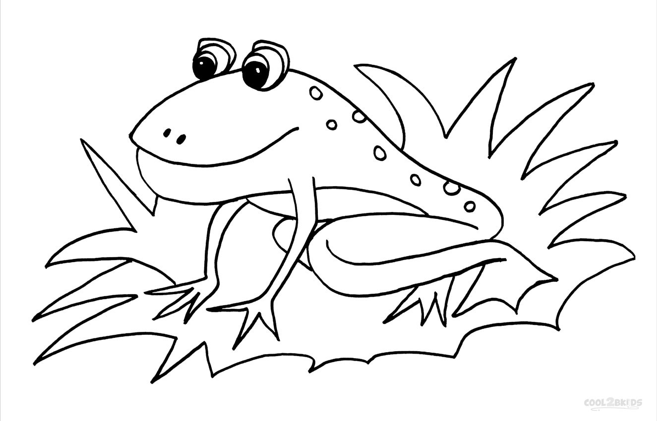 Printable Toad Coloring Pages For Kids