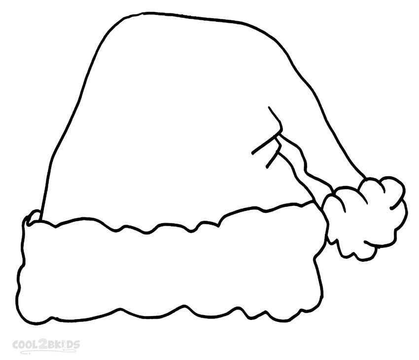 christmas santa hat coloring page