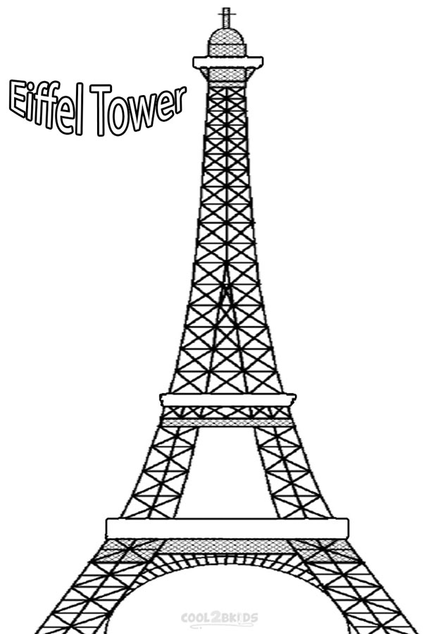 Printable Eiffel Tower Coloring Pages For Kids | Cool2bKids