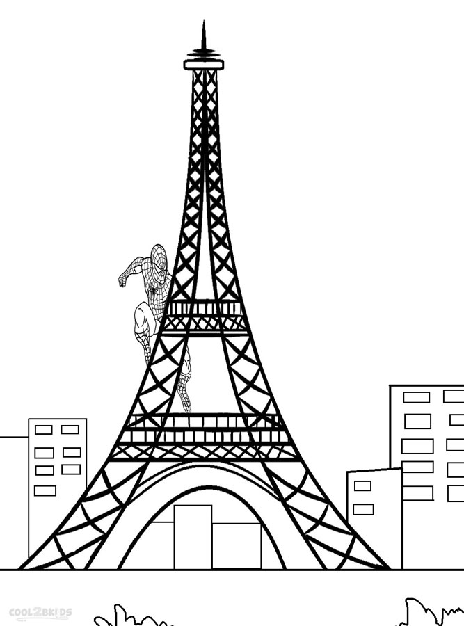 eiffel tower coloring pages for kids - Coloring Page For Kids
