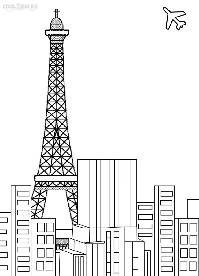 eiffel tower coloring pages printable - Paris Eiffel Tower Coloring Pages