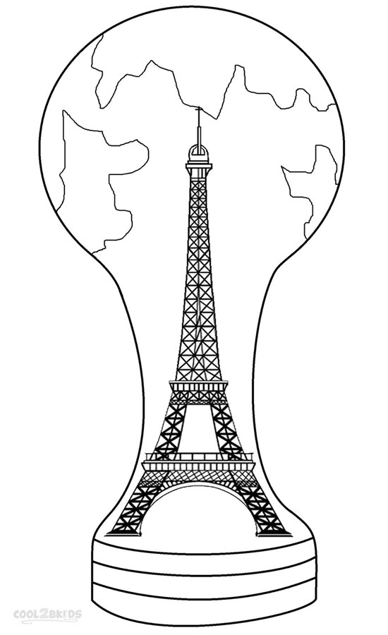Printable Eiffel Tower Coloring Pages For Kids | Cool9bKids
