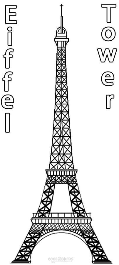 graphic regarding Eiffel Tower Printable referred to as Printable Eiffel Tower Coloring Webpages For Youngsters Neat2bKids