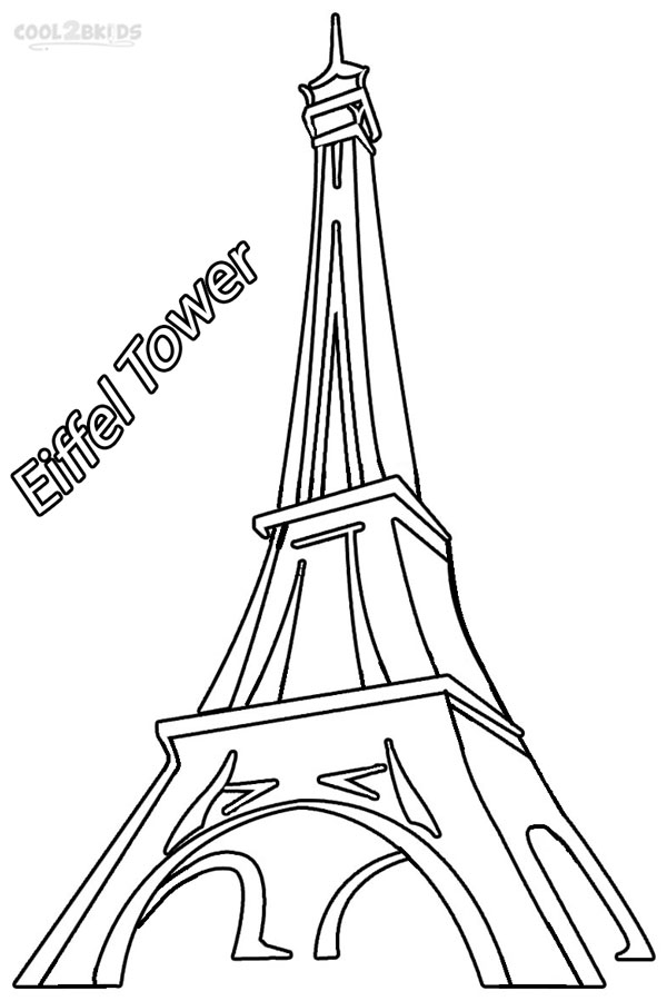 Eiffel Tower Printable Coloring Pages