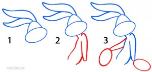 How To Draw Bugs Bunny Step 1