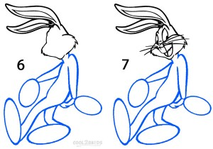 How To Draw Bugs Bunny Step 3